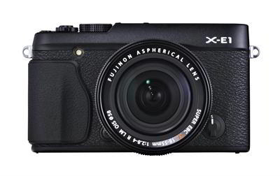 X-E1 front black with 18-55mm